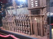 Yes! Yes that is a massive chocolate sculpture of the Notre Dame