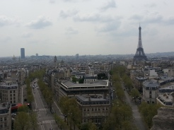 The view from the top of the Arc De Triomphe