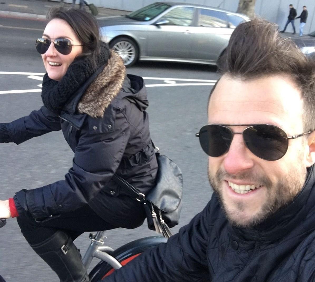 D & I riding through London